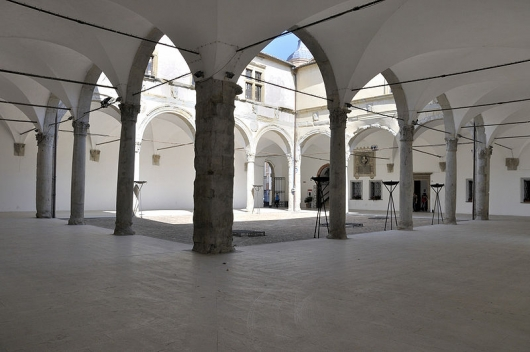 The courtyard of the Ducal Palace of Camerino