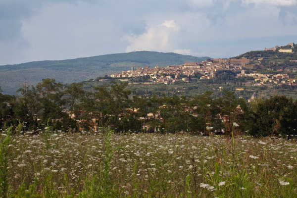 View from Cortona to Lake Trasimeno